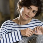 "Chanel striped top on Audrey Tatou who stared as Coco in the movie ""Coco before Chanel"""