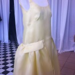 Yellow dress with a nice and silky fabric